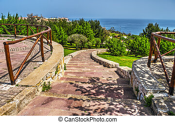 stairway by the sea in Sardinia