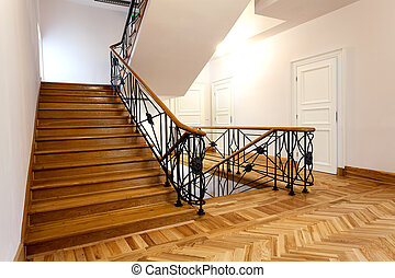 Stairway - Elegant staircase in the classic hotel interior