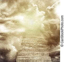 stairway, himmel