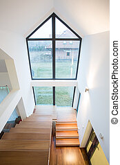 Stairway in detached house - view from above