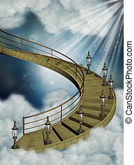 Stairway in the sky