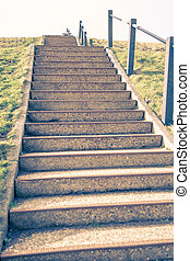 Stairway on sea-dike