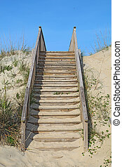 Stairway to a public beach access vertical - Stairway to a...