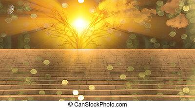 Stairway to heaven - Stairway landscape