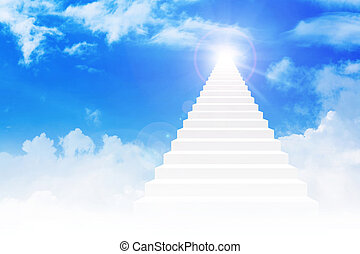 Stairway To Heaven - Stairway leading up to bright light...