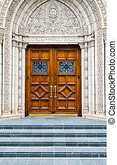 Stairway to Heaven - Steps to Wood Church Door