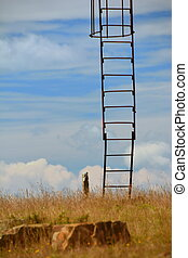 stairway to heaven with a high tower