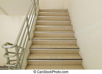 stairwell, og, nødsituation udgang
