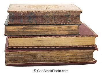 stak, i, antik, bøger