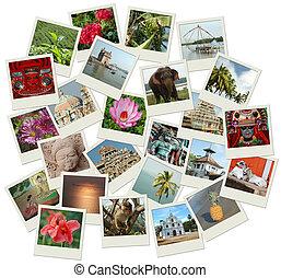 stak, i, fotografi, skud, hos, sydligt indien, landemærker