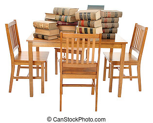 stak, i, gamle, tilsmuds, lov bog, på, tabel, hos, udklip sti