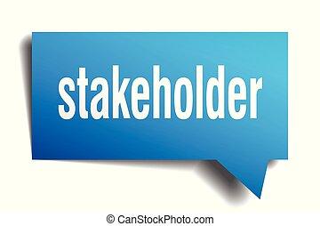 stakeholder blue 3d speech bubble - stakeholder blue 3d...