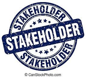 stakeholder blue grunge stamp