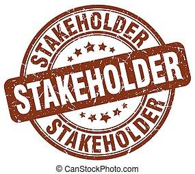stakeholder brown grunge stamp