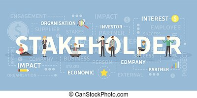 Stakeholder concept illustration. Idea of organisation and...