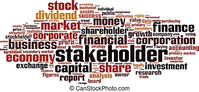 Stakeholder-horizon - Stakeholder word cloud concept. Vector...