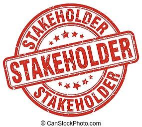 stakeholder red grunge stamp