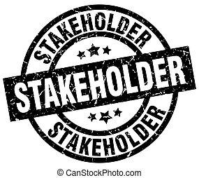 stakeholder round grunge black stamp
