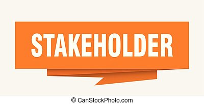 stakeholder sign. stakeholder paper origami speech bubble. ...