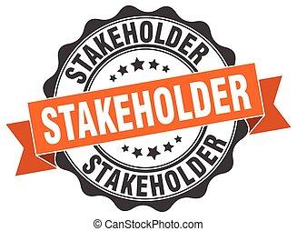 stakeholder stamp. sign. seal