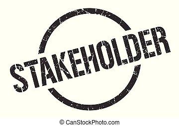 stakeholder black round stamp