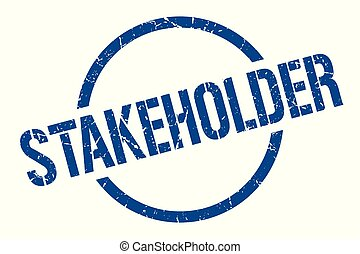stakeholder stamp - stakeholder blue round stamp