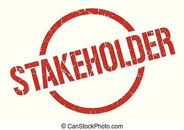 stakeholder stamp - stakeholder red round stamp