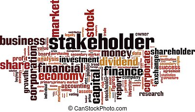 Stakeholder word cloud concept. Vector illustration