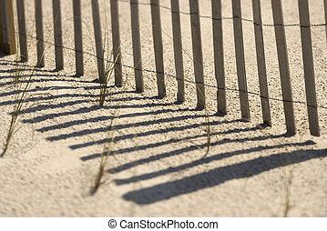 staket, på, flintskalle, island.