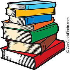 stakk af bøger, (books, stacked)