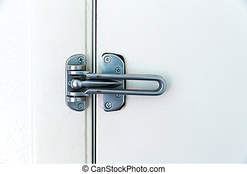 stal, piłka, drzwi, niesplamiony, lock., zawias
