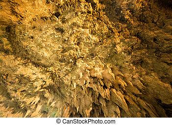 stalactites, caverne