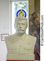 Stalin bust - Stalin monuments, like paintings and busts of...
