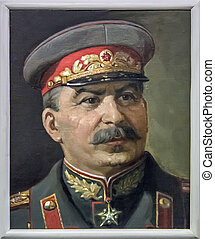 Stalin portret - Stalin monuments, like paintings and busts...
