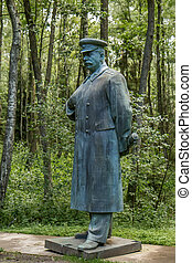 Stalin monuments, like paintings and busts of the Soviet