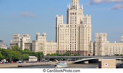 Stalinist era building in Moscow - View of one of seven...