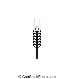 Stalk of ripe barley icon, outline style - Stalk of ripe ...