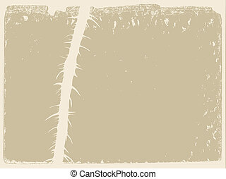 stalk of the plant on grunge background, vector illustration