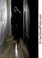 Stalker in a Dark Alley