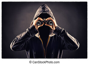 picture of a stalking person