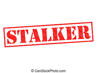 STALKER red Rubber Stamp over a white background.