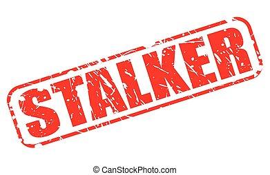 STALKER red stamp text