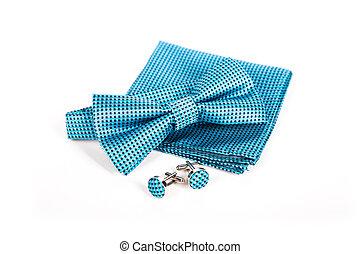 stalknecht., vastknopen, zakdoek, accessoires, boog, trouwfeest, cufflinks.