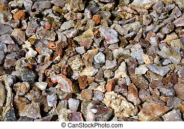 Geodes are geological secondary sedimentary structures which occur in sedimentary and certain volcanic rocks. Geodes are essentially spherical masses of mineral matter that were deposited sygenetically within the rock formations