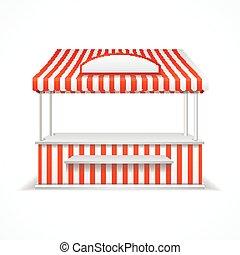 stall., vector, mercado