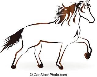 Stallion horse logo