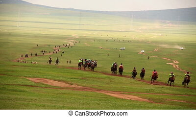 Stallion Horse Race 2013 Finals, Mongolia - Stallion Horse...