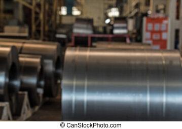 stalownia, przemysłowy, listek, wały, pień