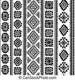 stam, årgång, etnisk, mönster, seamless