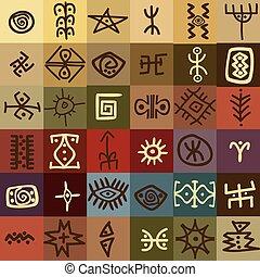 stam, etnisk, symboler, bakgrund